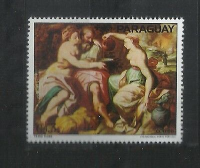 Paraguay Nude Painting     Mnh 1V