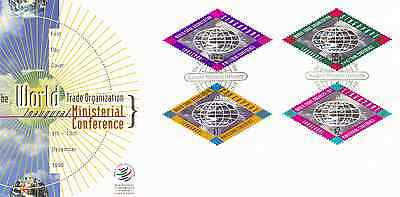 SINGAPORE - 1996 - FDC: WTO Ministerial Conference. 4v