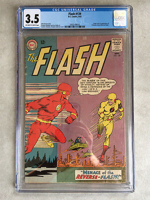 Flash #139, CGC 3.5, 1st appearance of Professor Zoom, the Reverse Flash