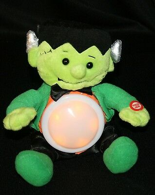 Animated Funny Lighted Frankenstein Halloween Plush Toy Musical Singing Light Up