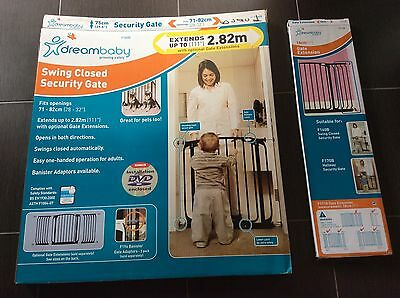 dreambaby BABY GATE BLACK with Extension