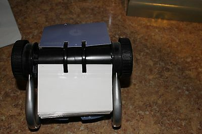 Rolodex Rotary Business Card File with 200 Card Sleeves and 24 Guides