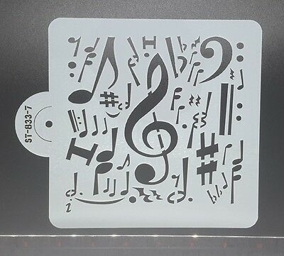 Music 833-7 Stencils Mask Template Quilting Mixed Media Cake Scrapbooking