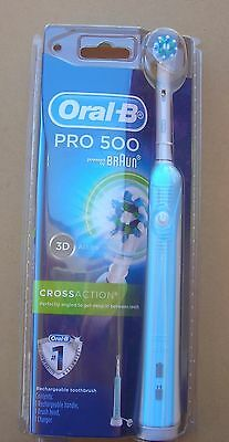 Oral B Pro 500 Rechargeable Toothbrush Brand New In Box