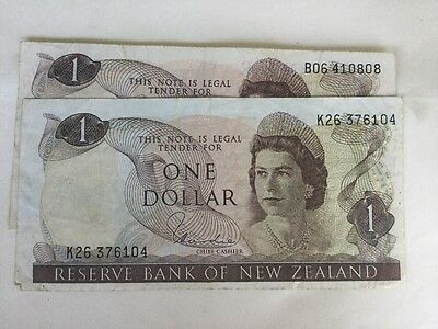 1971 – Reserve Bank Of New Zealand One Dollar Note Hardie