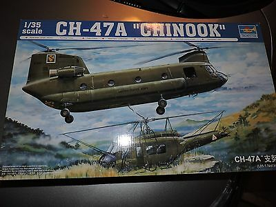 TRUMPETER 1/35th SCALE CH-47A CHINOOK HELICOPTER MODEL KIT   #05104