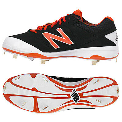 New Balance Baseball Shoes Metal Spike Cleats Black/White/Red L4040 BO3