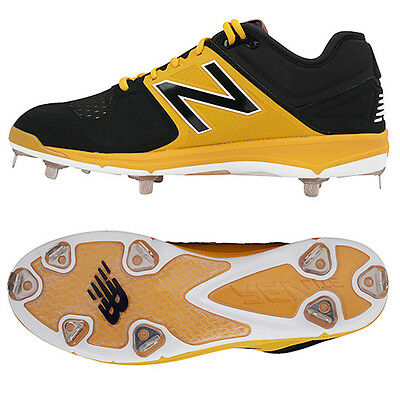 New Balance Baseball Shoes Metal Spike Cleats Black/Yellow L3000 BY3