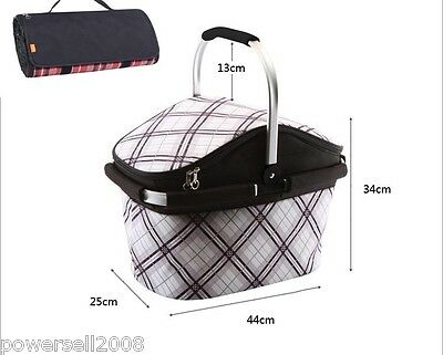 28L-British outdoor portable Picnic / Travel Insulated Cooler Bag + Picnic Mat