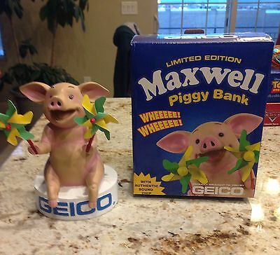 Geico Maxwell Limited Edition Talking Piggy Bank