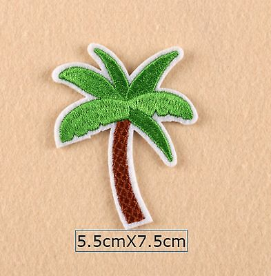 Coconut Palm Tree Embroidered Fabric Applique Sew It On Patch Badge