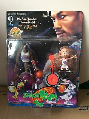 Rare Space Jam Warner Bros Michael Jordan Elmer Fudd Sealed Figure Looney Tunes