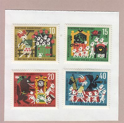 Germany 1963 Set Of 4 Stamps Mint Hinged