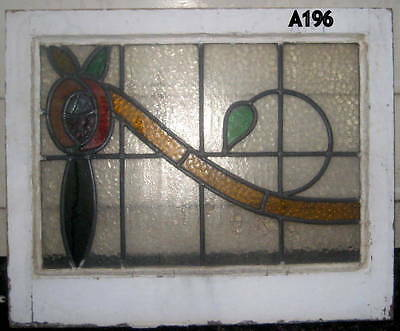 A196      exceptional Stained Glass window . Ca 1900