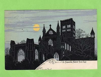 St Albans Cathedral Abbey Art Deco  pc used 1906  Ref A778