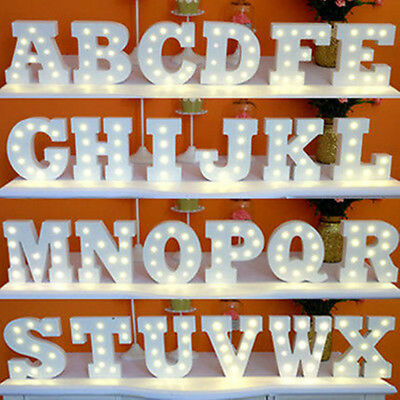Vintage Wooden LED Marquee Letters+Symbols Lights Sign Valentines Wedding Party