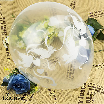 20pcs Dove and Heart  Air/Helium Clear Balloons for Wedding Party Decoration