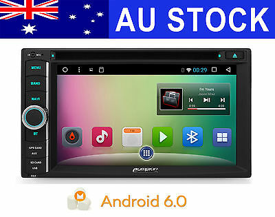 Android 6.0 Quad-Core Car Stereo GPS Navigation DVD Player Wifi-3G OBD2 HeadUnit