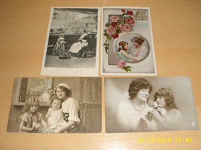 Mother & Children  - Collection Of Vintage Greeting  Postcards