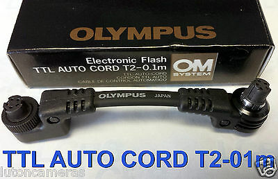 OLYMPUS OM SYSTEM TTL AUTO CORD T2-0.1m (for T45 bracket)