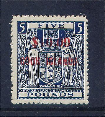Cook Islands QE 1967 $10 on £5 Overprinted Value Very Lightly Mounted Mint.