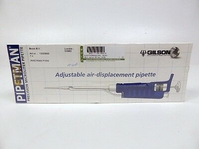 NEU Gilson PIPETMAN P1000 Classic Pipette Variables Volumen 200 - 1000 µL