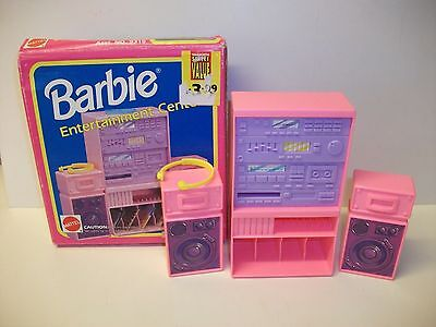 Vintage Mattel Barbie Doll Entertainment Center ~ Stereo ~ Boxed
