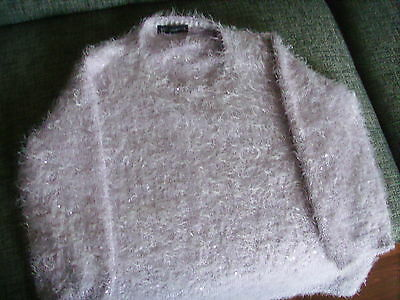 Ladies Jumper/supersoft Lilac Sequin /long Sleeve Jumper Size 16