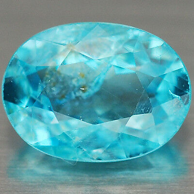 5.1 x 7.0 x 3.2 mm. Gorgeous Natural Gem Stone Oval Neon Blue Apatite