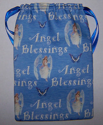 Butterfly & Angel Blessings Tarot Card Bag, ideal for fairy angel & Wicca cards