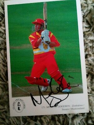 signed murray goodwin classic cricket card