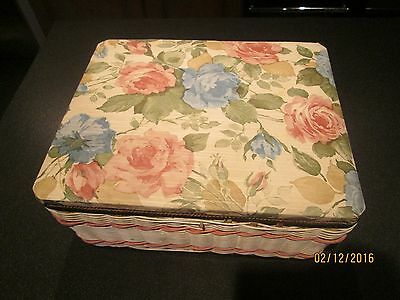 Vintage / Retro 1960's Padded Sewing Box.honest Collectable