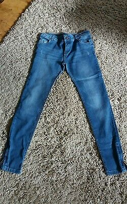 Lovely Pair Of Blue Skinny Leg Jeans Aged 12 -13 Years
