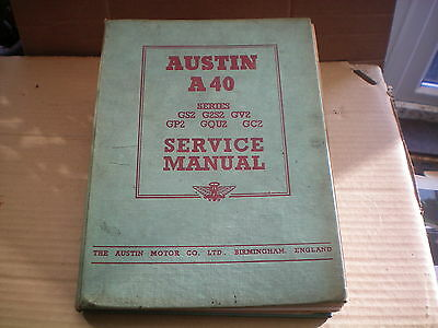AUSTIN A 40 Counties Models FACTORY WORKSHOP MANUAL.