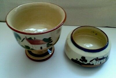"""2 Pots..Devon pottery ..""""Hope well and have well"""""""