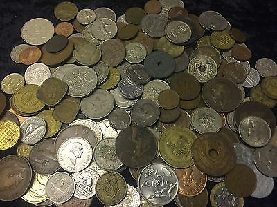 1KG+ Coin collection ,unsorted GB&World coins See Pictures # lot 1
