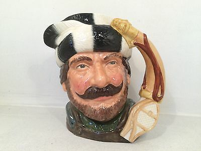 Royal Doulton The Trapper D6609 Toby Jug - 18cm Tall