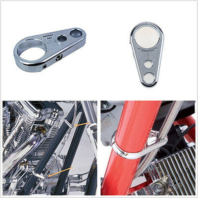 """1 PCS 1"""" 25mm Handbar Chrome Alloy Motorcycle Clutch Brake Cable Wire Clamp Clip"""
