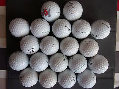 Lot 20 balles de golf occasion Titleist Prov1. Bon état
