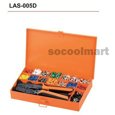 New LAS-005D Crimping Tool Kits Combination in Metal Box For cable end sleeves