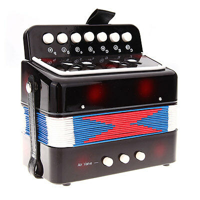 New 7 Keys 2 Bass Accordion for Kids Child Music Instrument Toy