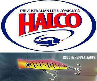 """SUPERIOR TOPWATER LURE BY HALCO """"ROOSTA POPPER 80"""" 16g"""