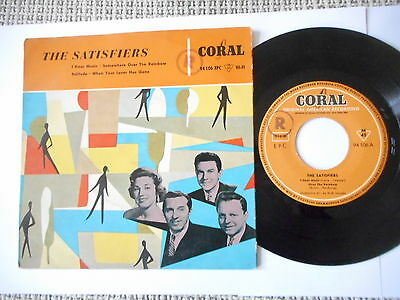 THE SATISFIERS I Hear Music GERMAN CORAL EP 1957