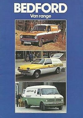 Bedford Van Range 1980 - 24 Sided Brochure (F10)