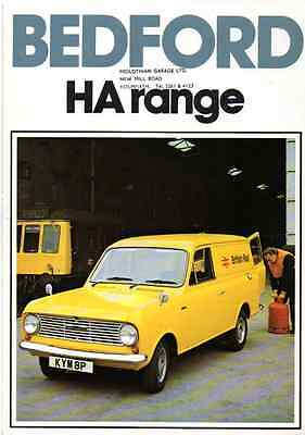 Bedford HA Van 1977 – 6 Sided Brochure (F09)