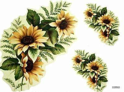 NeW! XL GoRGeouS STeMmeD SuNFLoWeRs SHaBbY DeCaLs ~FuRNiTuRe SiZe~