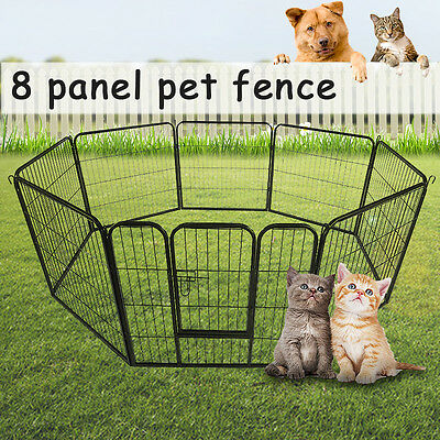 32 inch 8 Panel Pet Dog Playpen Puppy Rabbit Exercise  Play Cage Foldable Fence