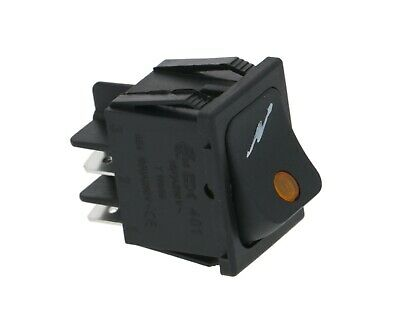 Black Bipolar Switch 16a. 250volts