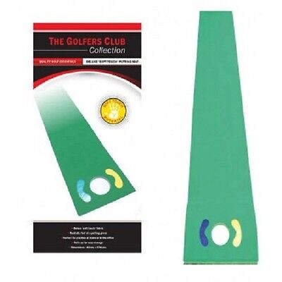 New & boxed Golfers Club 9ft deluxe putting practice mat - like a real green