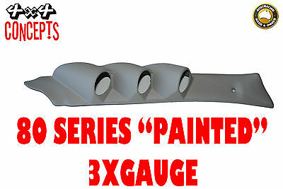 "to suit Toyota Landcruiser 80 Series TRIPLE  PILLAR POD ""NEW"" PAINTED GREY"